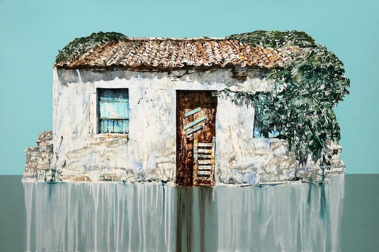 Michael-Goro-Old-Store-in-Fontana-Village-2016-Oil-on-board-91-x-61-cm